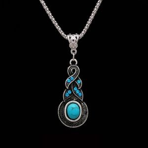 Tibetan Silver Turquoise Accents Boho Necklace New